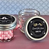 Chalkboard Wedding Personalized Small 4 Ounce Mason Jars