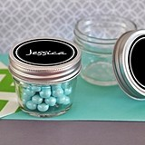 Small 4 Ounce Mason Jars with Vinyl Chalkboard Cling Labels