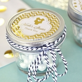 Personalized Metallic Foil Small 4 Ounce Mason Jars (Baby Shower)
