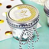 Personalized Metallic Foil Small 4 Ounce Mason Jars