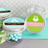 Personalized MOD Pattern Baby Shower Small 4 ounce Mason Jars