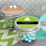 Personalized MOD Pattern Theme Small 4 ounce Mason Jars