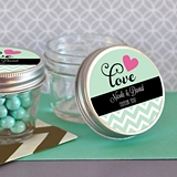 Choose Your Theme Personalized Small 4 Ounce Mason Jars