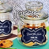 Personalized Chalkboard Wedding Mini Cookie Jars