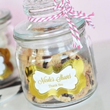 Event Blossom Personalized Baby Shower Cookie Jars with Foil Stickers