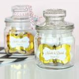 Event Blossom Personalized Mini Cookie Jars w/ Metallic Foil Stickers