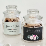 Event Blossom Personalized Floral Garden Designs Mini Cookie Jars