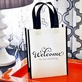 Event Blossom Black & White Wedding Welcome Tote Bag