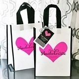 Bachelorette Party Tote Bags with Personalized Tags