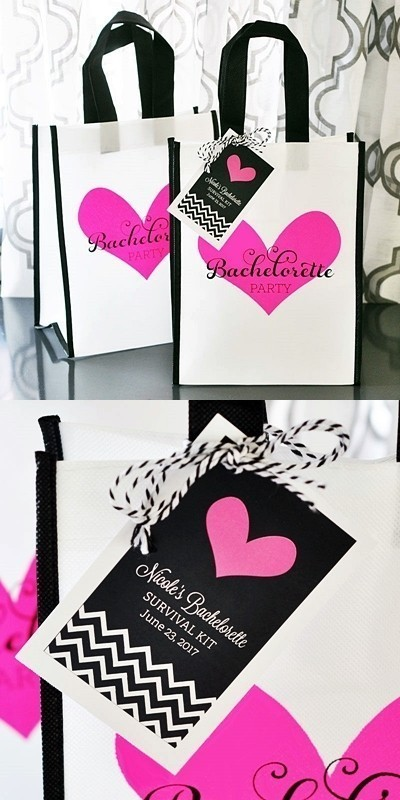 Event Blossom Bachelorette Party Tote Bag with Personalized Tag