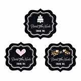 Chalkboard Motif Personalized Frame-Shaped Labels