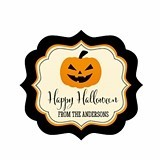 Personalized Classic Halloween Frame-Shaped Label