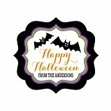 Personalized Spooky Halloween Frame-Shaped Labels