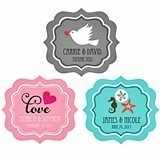 Personalized Frame-Shaped Labels to Match Your Theme
