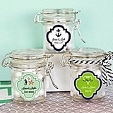 Match Your Theme Personalized Miniature Glass Jars with Swing-Top Lids