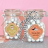 Match Your Theme Personalized Small Glass Jars with Swing-Top Lids