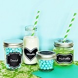 Vinyl Chalkboard Cling Labels (4 Shapes) (Set of 24)