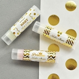 Event Blossom Personalized Metallic Foil Lip Balm Tubes (Baby Shower)