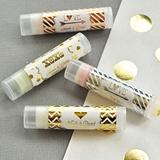 Event Blossom Personalized Metallic Foil Lip Balm Tubes (Wedding)