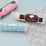 Event Blossom Personalized MOD Baby Shower Silhouette Lip Balm Tubes