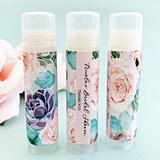 Event Blossom Personalized Succulent Design Lip Balm Tubes