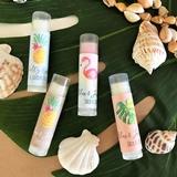 Event Blossom Personalized Tropical Beach Designs Lip Balm Tubes