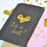 """Love is Sweet"" Gold Foil Accented Goody Bags (Set of 12)"