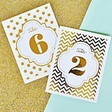 Shimmering Silver or Gold Foil Table Numbers (Numbers 1 - 36)