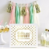 Personalized Typography Foil Print Baby Shower Sign (10 Colors)