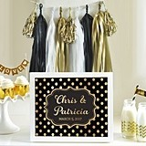 Glamorous Metallic Foil on Cardstock Custom Text Sign (10 Colors)