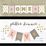 Personalized Gold Glitter Birthday Party Banner (3 Sizes)