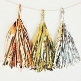 Pre-Assembled Metallic Mini Tassels (Set of 6)