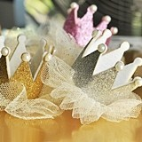 Glitter Crown Clip with Tulle Tutu (3 Colors)