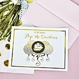 Metallic Foil Pop the Question Bridesmaids Cards (Set of 8)