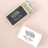 Event Blossom Personalized Floral Silhouette Match Boxes (Set of 50)