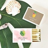 Event Blossom Personalized Tropical Beach Match Boxes (Set of 50)