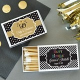 Event Blossom Personalized Birthday Party Match Boxes (Set of 50)