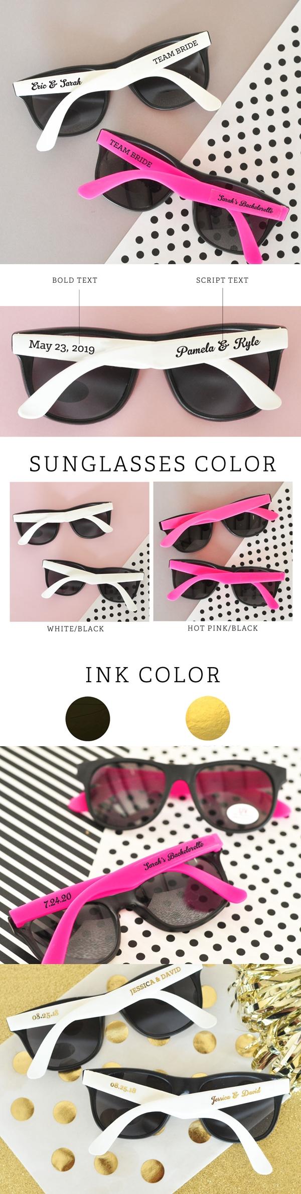 Event Blossom Personalized Wayfarer-Replica Rubberized Sunglasses