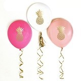 Event Blossom Metallic Gold Pineapple Balloons (3 Colors) (Set of 3)