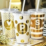 Event Blossom Personalized Metallic Foil Double-Walled Tumbler