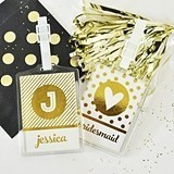 Event Blossom Personalized Metallic Foil Luggage Tags (Set of 4)