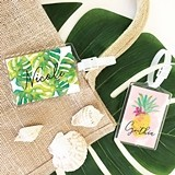 Event Blossom Personalized Tropical Beach Luggage Tag (4 Designs)