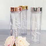 Event Blossom Personalized Tall Tumbler w/ Metallic Lid (3 Lid Colors)