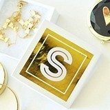 Event Blossom Gold Monogram Jewelry Gift Boxes (Set of 6)