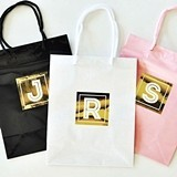 Event Blossom Gold Monogram Gift Bags (Set of 6) (3 Colors)
