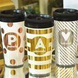Personalized Metallic Foil Travel Coffee Mug (9 Color/Pattern Combos)