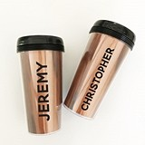 Event Blossom Personalized Wood-Grain Background Travel Tumbler