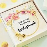 18k-Gold-Plated Bracelet w/ Monogram, Heart Charm, Gem & Floral Insert