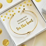 "Event Blossom Gold-or-Silver-Plated ""Tie the Knot"" Bracelet"