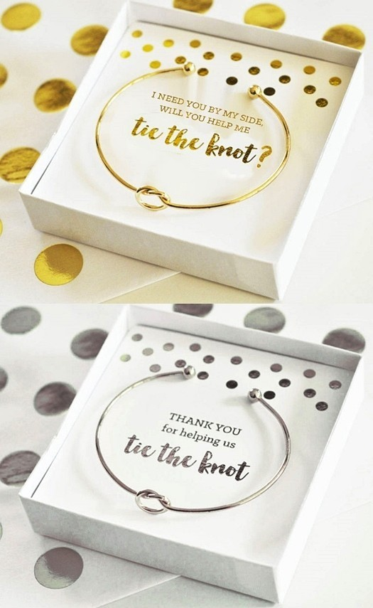 Event Blossom Gold Or Silver Plated Tie The Knot Bracelet